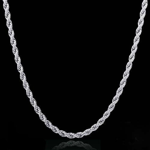 Sterling Silver 1mm SPIGA Wheat Chain Necklace 030 Italy 16″- 30″ NEW 925 Fashion Jewelry