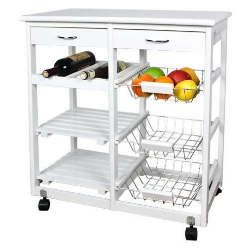 Kitchen trolleys kitchen storage cart ebay - Kitchen cabinets trolleys pictures ...