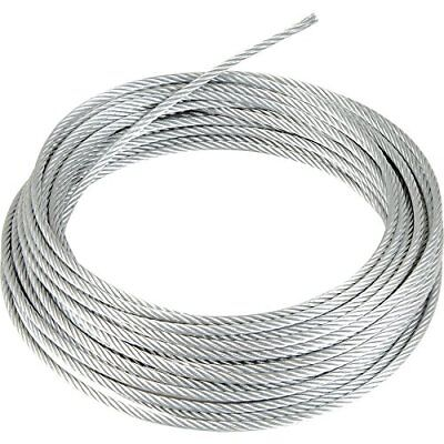Galvanized Wire Rope Cable 316 7x19 100 Ft