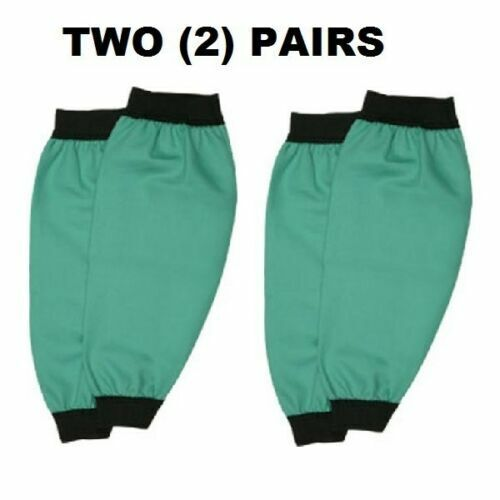 (2) TWO PAIRS Memphis Flame Resistant Cotton Fabric Welding Sleeves