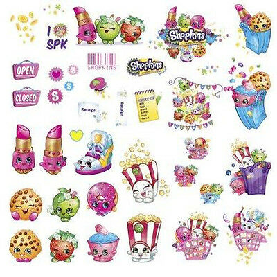 SHOPKINS wall stickers 39 decals grocery characters popcorn fries lipstick