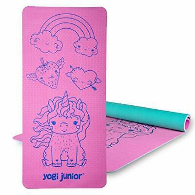 Yogi Junior Kids Yoga Mat - Double Layered Pink