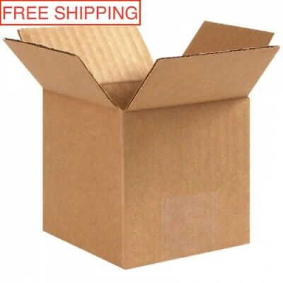 25 Pack - 4 X 4 X 4 Corrugated Cardboard Shipping Mailing Boxes