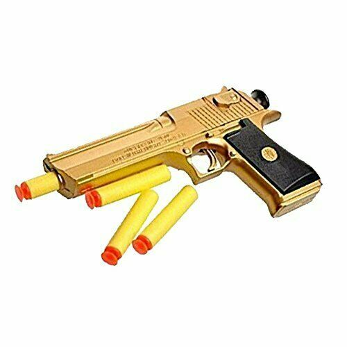 Backyard Blasters New Golden Desert Eagle Toy Foam Dart Gun