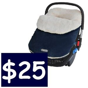 JJ COLE Bundle Me Car Seat Cover (in NAVY BLUE) --- ONLY $25!!