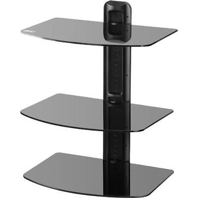 Audio Video Stands Mounts - Etec EXTS317 A/V Component Wall Mount Stand - 3 Shelves