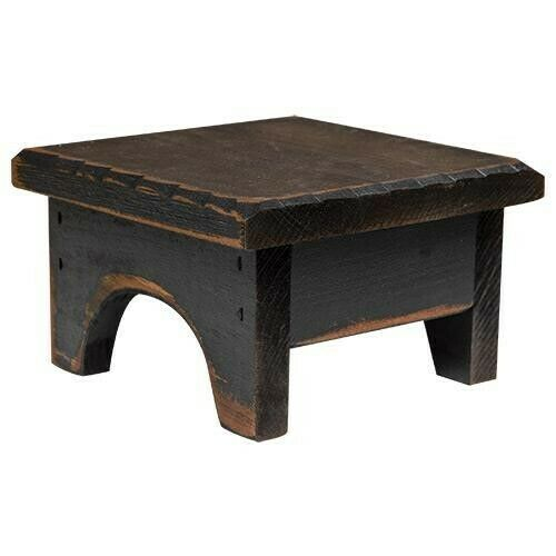 Fantastic Details About 7 Square Black Distressed Wood Candle Riser Mini Step Stool 4 High Primitive Squirreltailoven Fun Painted Chair Ideas Images Squirreltailovenorg