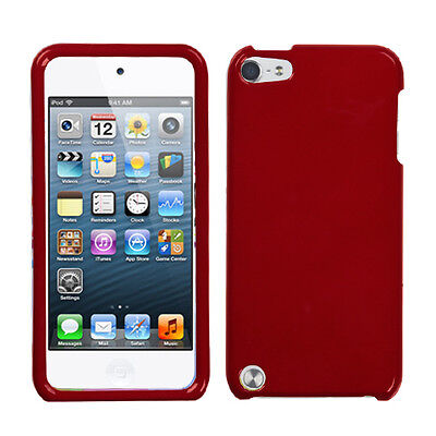 Dark Red Faceplate Apple ipod Touch 5 5G Protector Hard Plastic Case Snap -
