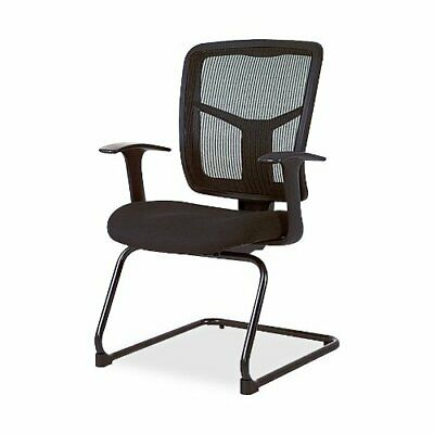 Lorell 86000 Series Mesh Side Arm Guest Chair - Mesh Black Seat Fabric - Mesh -