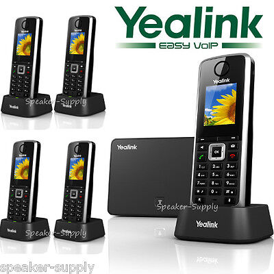 Yealink W52P W52H Bundle 5 Cordless Handsets Phones SIP HD VoIP W52P + W52H x4