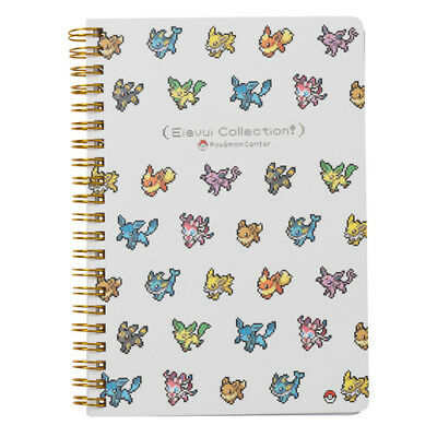 Pokemon Center Original Eevee DOT COLLECTION B6 Size Spiral Notebook evolution](Pokemon Notebook)
