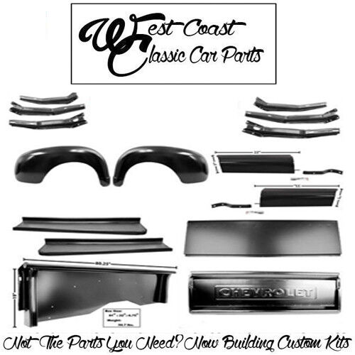 .1947 1953 Chevy Truck Short Bedsides Rr Fenders Chevy Tailgate Run Boards Apron