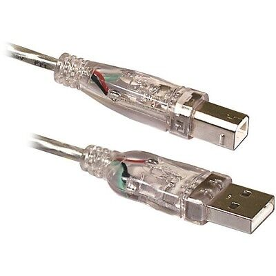 USB 2.0 A-b Green Lighted Cable Unbranded/Generic