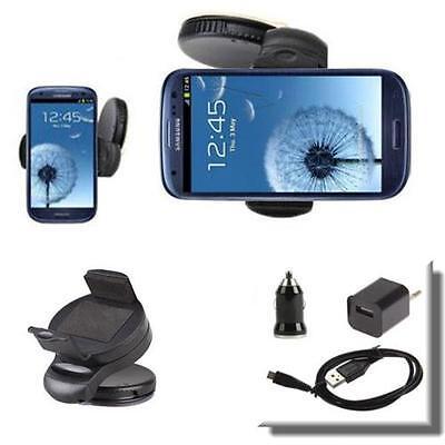 Samsung Galaxy S3 / S4 Auto Halterung Handy KFZ Halter Ladegerät Ladekabel SET B
