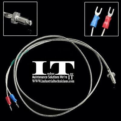 Screw High Temperature Thermocouple - K Type 6 Mm Thread Probe Sensor 1m 3.3ft