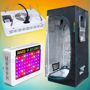 Indoor Grow Kit - 300W Mars Hydro LED Light and Grow Tent
