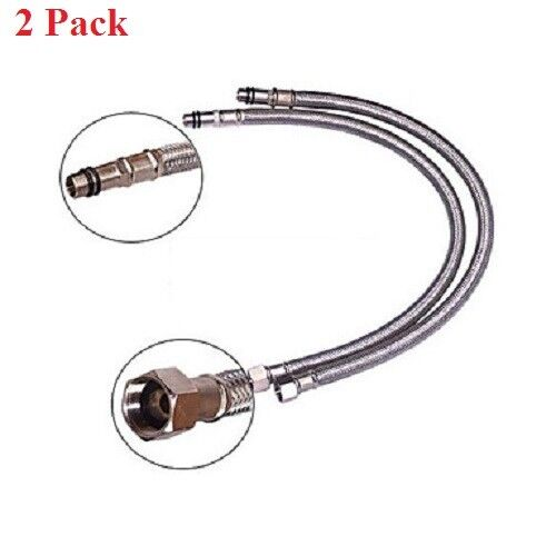 2x  3/8 inch out Diameter  Water Supply Hose for kitchen & vanity Faucet