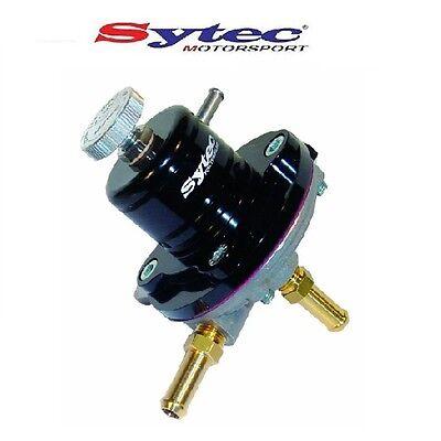 SYTEC 1:1 SAR ADUSTABLE 1-5 BAR FUEL PRESSURE REGULATOR (BLACK) 8mm PUSH TAILS