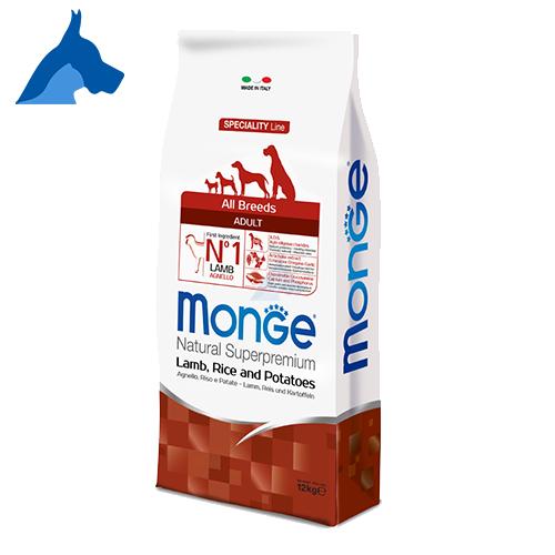 Monge Superpremium Adult Agnello, Riso e Patate Cibo per cani 12 kg 24 kg