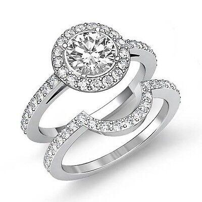 2.5ct GIA F VS2 Platinum Round Cut Diamond Bridal Set Engagement Filigree Ring