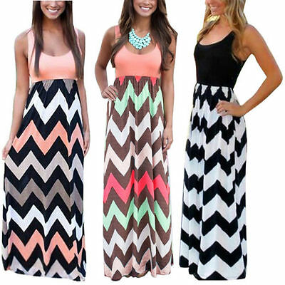Kleid Jumper Top (Damen Jumper Rundhals Sommerkleid Freizeit Maxikleid Trägertop Ballkleid Kleider)