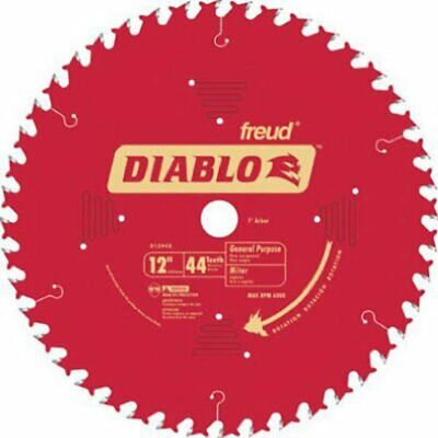 Freud D1244X Diablo 12-Inch 44 Tooth ATB General Purpose Miter Saw Blade with 1-