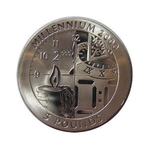 elf Gibraltar 5 Pounds 1999 Titanium Clock Time Candle Sundial