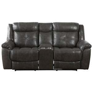 Justin Contemporary Leather Power Reclining Loveseat