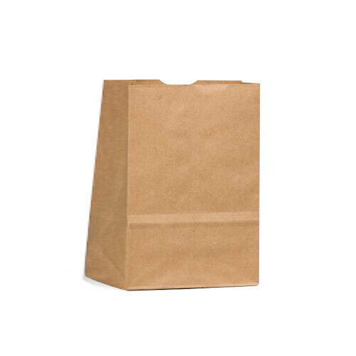 Heavy Duty Brown Kraft Lunch Paper Bag 3# Pack of 250 Almost 5 x 3 x 8.5