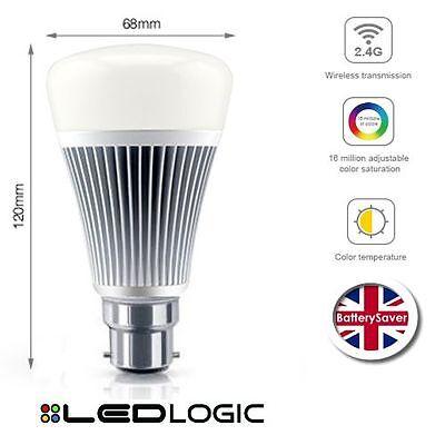 MiLight RGB-DW Remote Control LED Light Bulb (Full Colour+Dual White) 2.4G WiFi