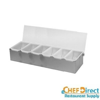 6 Compartment Stainless Steel Condiment Dispenser Free Shipping