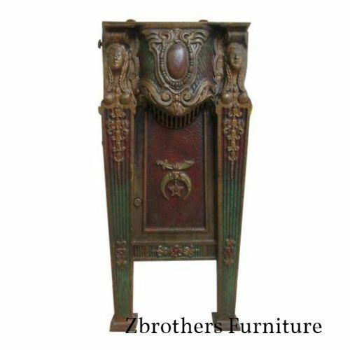 Victorian Mason Masonic Architectural Salvage Cast Iron Theater Seat Freemason B