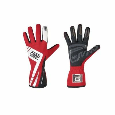OMP Racing IB757ERM First Evo 2016 Driving Gloves, Single Layer, Red - Medium