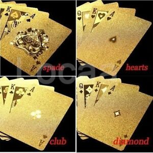 New 24K gold foil poker playing cards