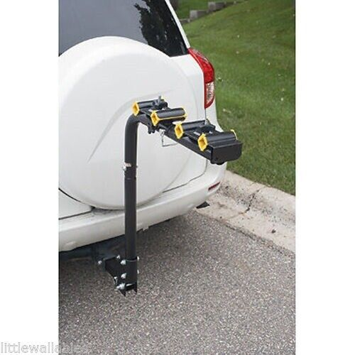 """Tilt Down Hitch Mount 2 or 4 Bicycle Bikes Rack Carrier Trailer SUV 2"""" Receiver"""