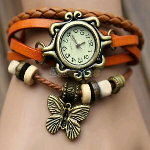 Retro-Weave-Around-Leather-Bracelet-Watch-Fashion-Lady-Woman-Quartz-Wrist-Watch