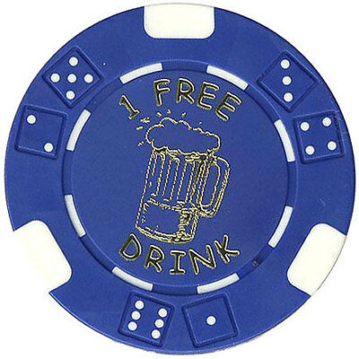 "100 FREE DRINK POKER ""BEER MUG"" STYLE CHIPS TOKENS RESTAURANTS OR BAR **"