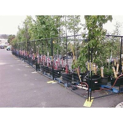 New Perimeter Patrol Welded Wire Black Powder Coat Fence-76wx6h 12 Panel Kit