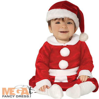 Little Miss Santa Claus Girls Costume Christmas Baby Toddlers Festive Costume - Baby Little Santa Kostüm