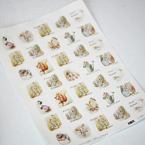 Peter Rabbit Sticker Sheet | Beatrix Potter Crafts Birthday Scrapbook x35