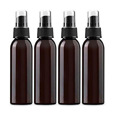 4 oz Amber PET  Empty Spray Bottle- Pack of 4