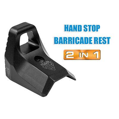 NEW UTG Super Slim Keymod Hand Stop Barricade Rest Kit Black