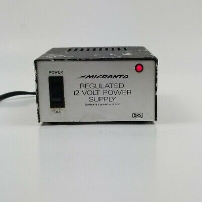 Micronta Regulated 12 Volt Power Supply No. 22-124 Converts 120 Vac To 12 Vdc