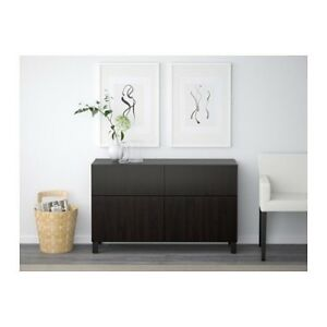 IKEA Besta Lappviken Side Board Hutch Media Stand