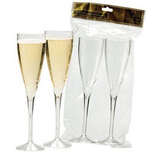 plastic champagne flutes home garden ebay. Black Bedroom Furniture Sets. Home Design Ideas