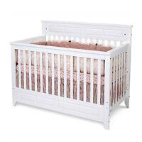 Child Craft Logan 4-in-1 Lifetime Convertible Crib, Matte White