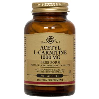 Solgar Acetyl L-Carnitine Free Form 1000 mg - 30 (Solgar Acetyl L Carnitine 1000 Mg 30 Tablets)
