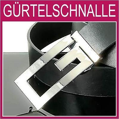 Herren Silber Gürtelschnalle (G Gürtelschnalle,hochglanz poliert SILBER Herren,Damen,Gürtel,BUCKLE,NEU,1G11e)