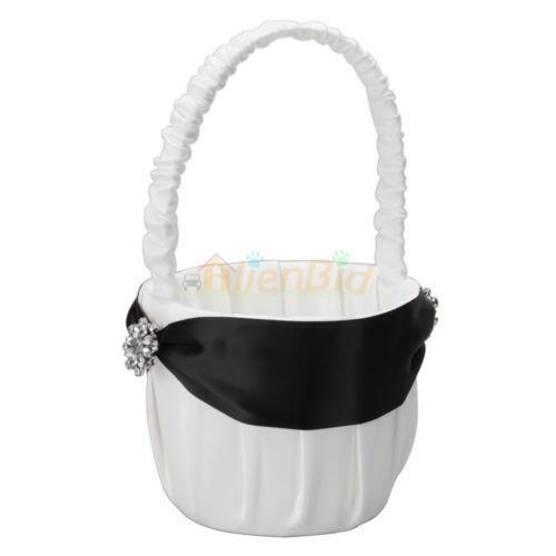 Flower Girl Baskets Black : Black flower girl basket