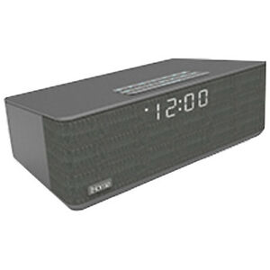 iHome iBT233 Bluetooth Dual Alarm FM Radio Clock - Grey